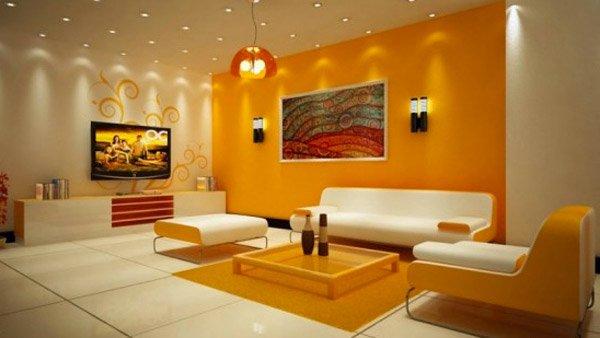 15 Close To Fruity Orange Living Room Designs | Home Design Lover