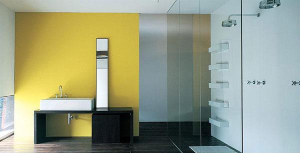 yellow wash room