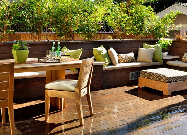 wooden outdoor planters