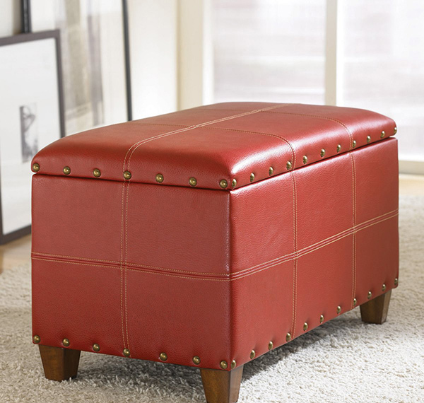 red ottoman - Store Hidden Treasures In 20 Cube Storage Ottomans Home Design Lover
