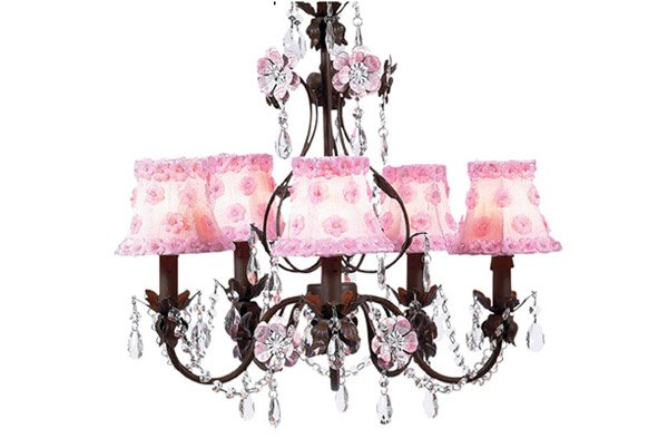 alluring pink chandeliers for a girl's bedroom  home design lover, Lighting ideas