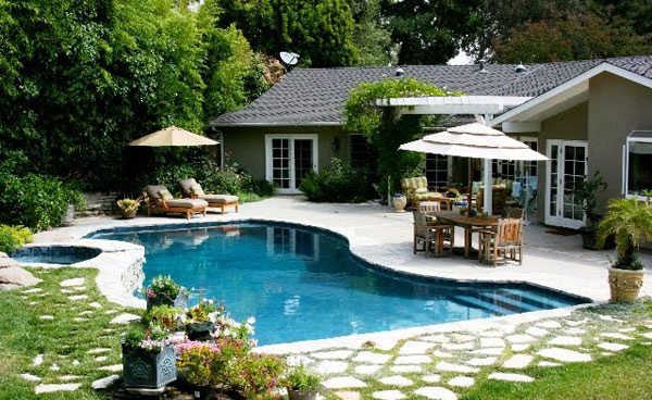 Backyard Designs With Pool spruce up your small backyard with a swimming pool 19 design ideas Creative Landscape