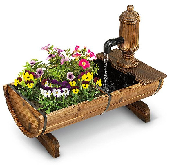 Cracker Barrel Planter and Fountain