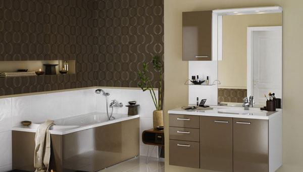 light brown bathroom painting