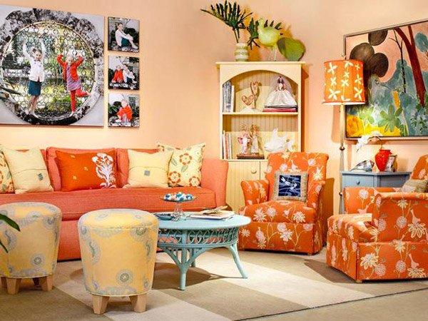 100+ ideas orange living room design on vouum