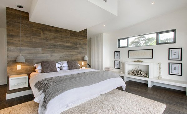 South Coogee Wood Panel Bed