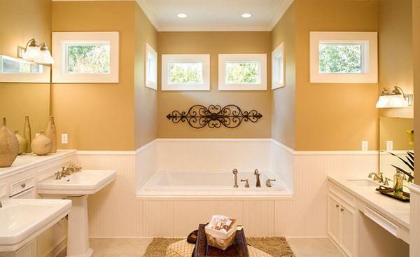 yellow bath design