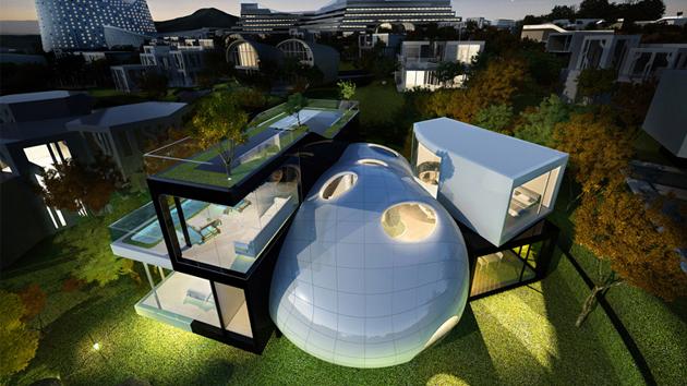 Design futuristic house