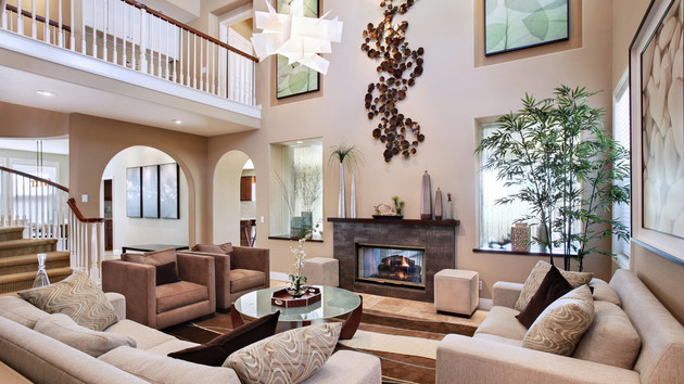 Interior design for high ceiling house