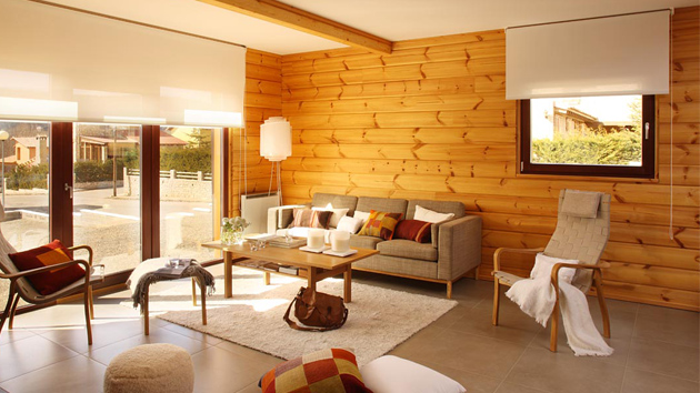 Decorating Ideas > Wooden Panel Walls In 15 Living Room Designs  Home Design  ~ 171017_Living Room Wall Paneling Ideas