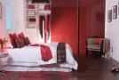 red wardrobe