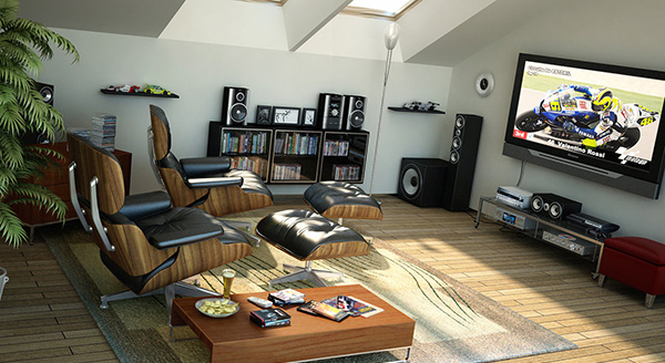 welldesigned living spaces in the attic  home design lover, Home designs