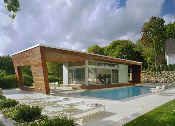 cantilevered house - Pool House Designs Ideas