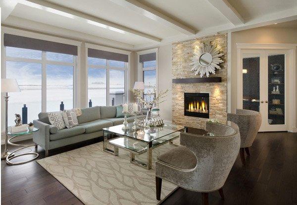 living room beams
