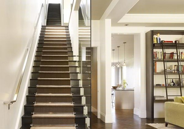 modern black stairs