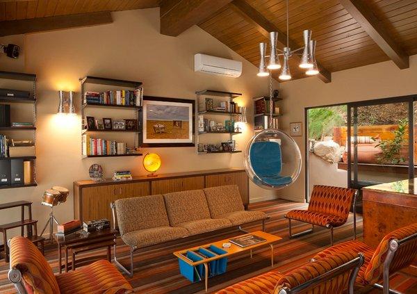 sullivan canyon - Burnt Orange And Brown Living Room
