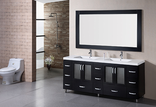 Great 48 White Bathroom Vanity Cabinet Huge Bathroom Water Closet Design Clean Tiled Baths Showers Silkroad Exclusive Pomona 72 Inch Double Sink Bathroom Vanity Young Rebath Average Costs GrayBathroom Wall Fixtures 15 Modern Double Sink Bathroom Vanity Sets | Home Design Lover