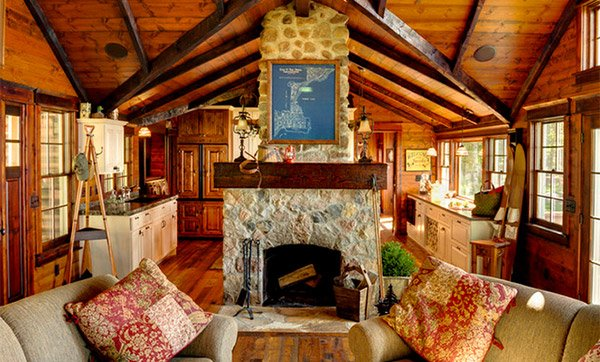 brown wooden beams
