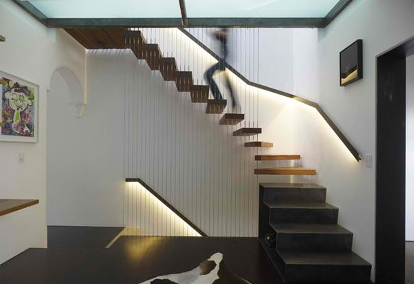 suspended stair