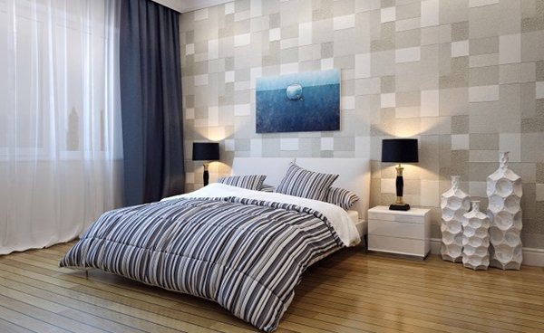 squares accent wall - Textured Wall Designs