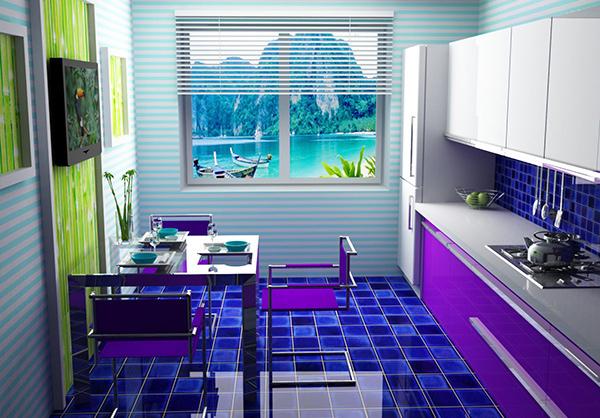 Dining Violet Blue
