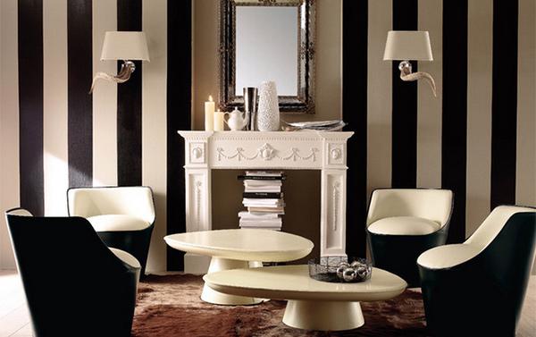 striped walls design - 15 Striped Walls Living Room Designs Home Design Lover