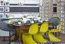 striped dining