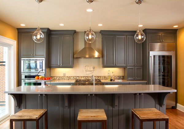 Grey Kitchen Cabinet Images kitchen cabinets ideas » grey kitchen cabinets wall colour