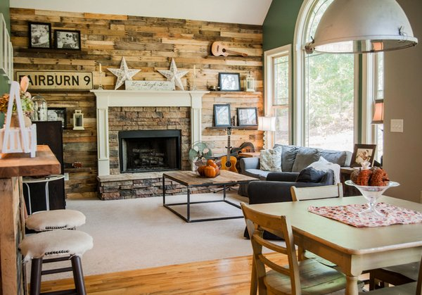 homey rustic living room designs  home design lover,