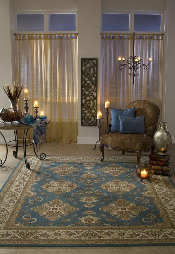 Momeni Persian Garden Pg01 Teal Rug