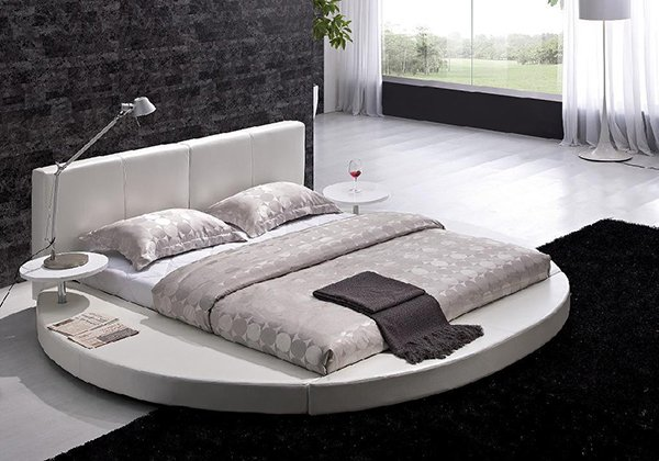 contemporary bedroom setting. 15 Fashionable Round Platform Beds   Home Design Lover