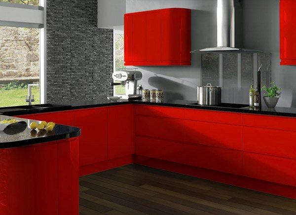 red lacquered finish