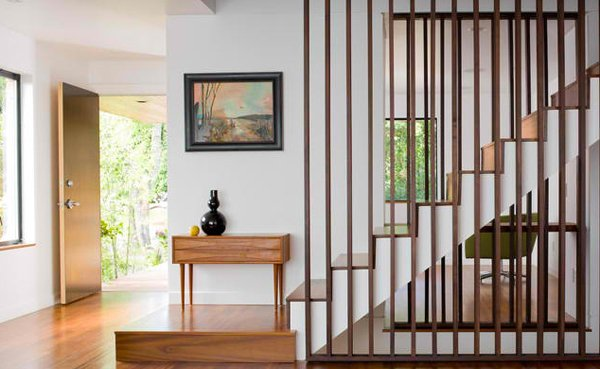 simple wooden staircase