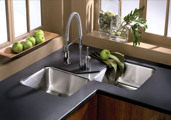 Corner Undermount Kitchen Sinks