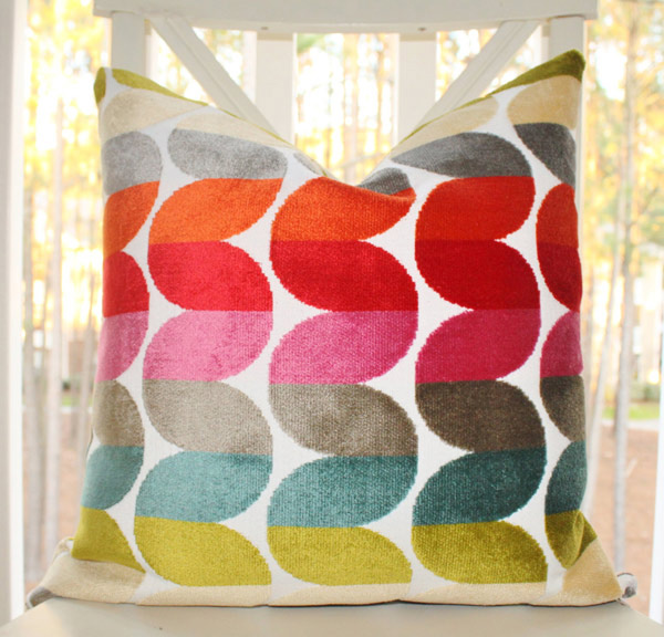 Bright Color Throw Pillow