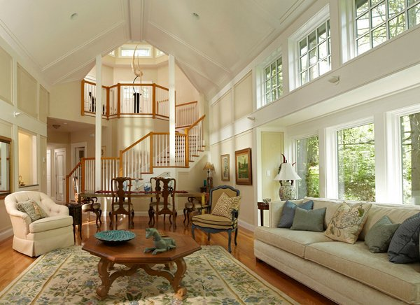 clerestory windows - 18 Living Room Designs With Vaulted Ceiling Home Design Lover