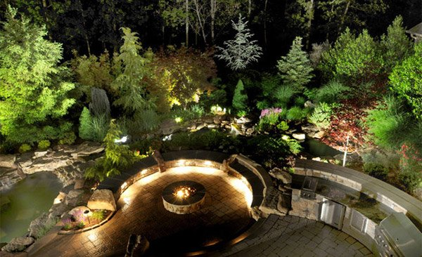 underlit benches - Landscape Lighting Design Ideas