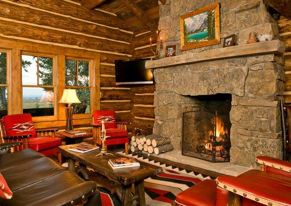 log cabin - Log Cabin Living Room