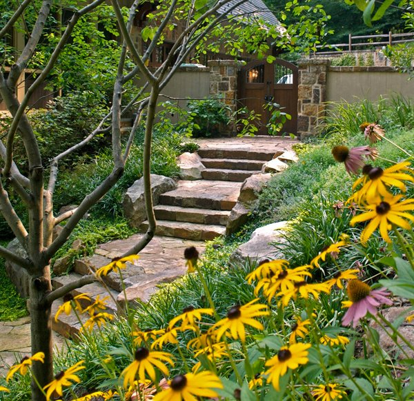 contemporary landscape steps
