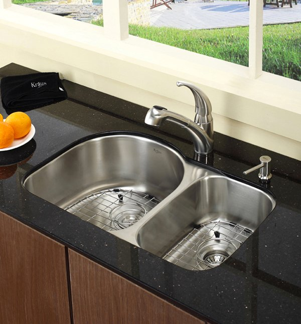 charming Double Sink Kitchen #1: Double Basin Kitchen Sink