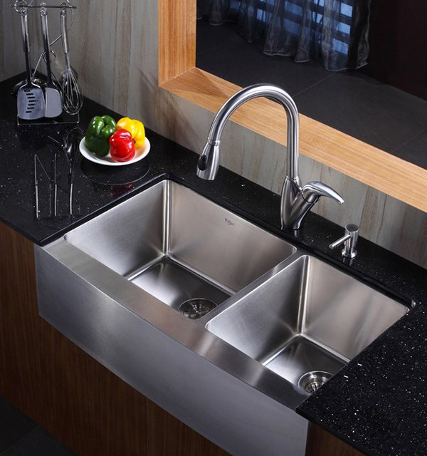 16 gauge premium stainless steel Purposeful Double Basin Kitchen Sink  Amazing Home Ideas