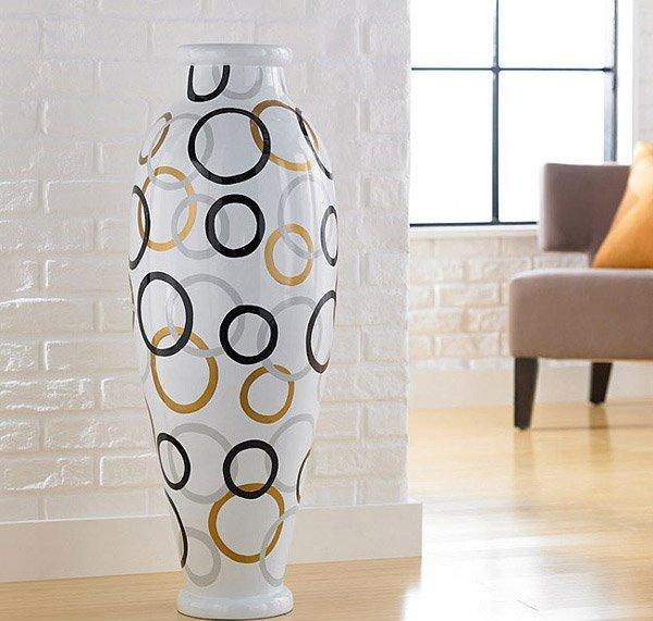 Modern Circles Round Floor Vase