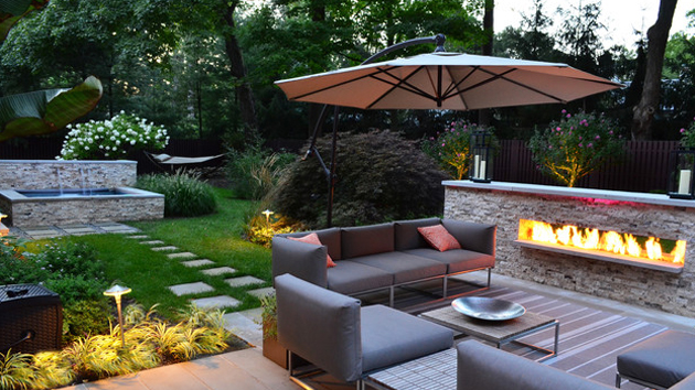 15 backyard landscaping ideas home design lover backyard landscape design ideas - Backyard Landscape Design Ideas