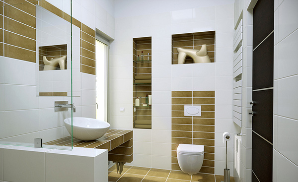 small contemporary bathroom idea - Bathroom Designs Contemporary