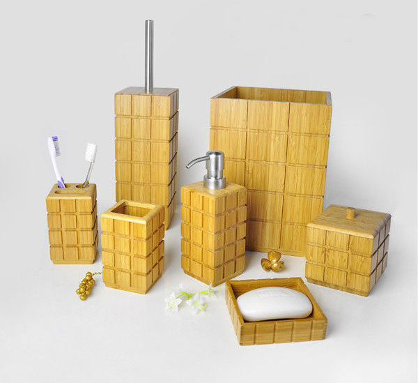 bamboo bathroom sets 15 trendy modern bathroom accessories set home design lover yellow bathroom accessories