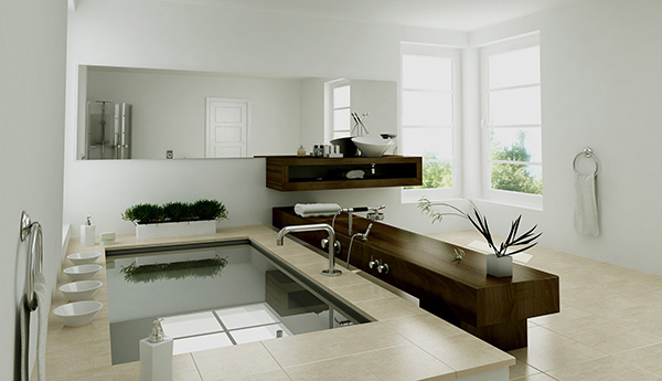 3D Bath Rendering