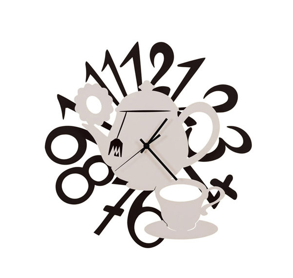 teacup pot - Designer Kitchen Wall Clocks
