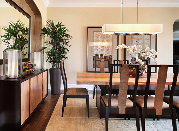 walnut residence asian dining room furniture