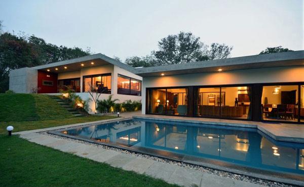 Aranya House Pool Night 1