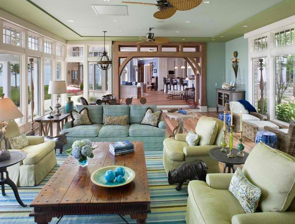 traditional furniture shapes - 15 Traditional Tropical Living Room Designs Home Design Lover